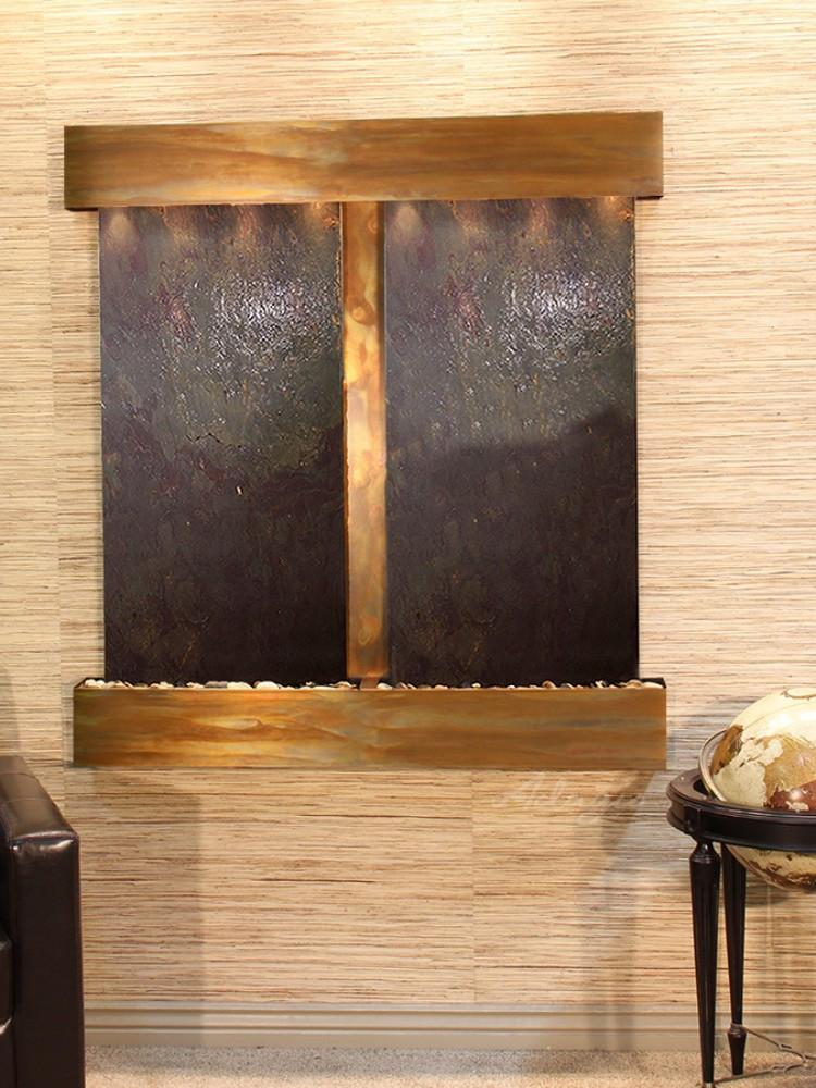 Aspen Falls: Multi-Color FeatherStone and Rustic Copper Trim with Squared Corners