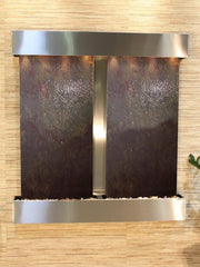 Aspen Falls: Multi-Color FeatherStone and Stainless Steel Trim with Squared Corners