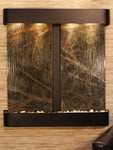 Aspen Falls: Rainforest Green Marble and Rustic Copper Trim with Rounded Corners