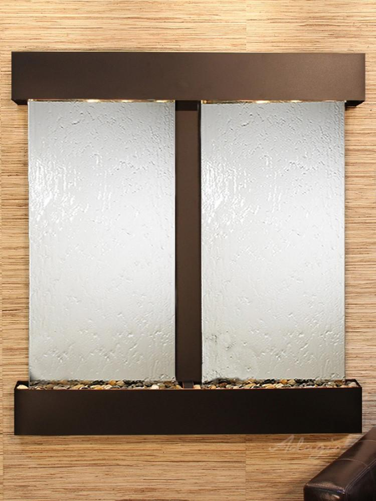 Aspen Falls: Silver Mirror and Blackened Copper Trim with Squared Corners