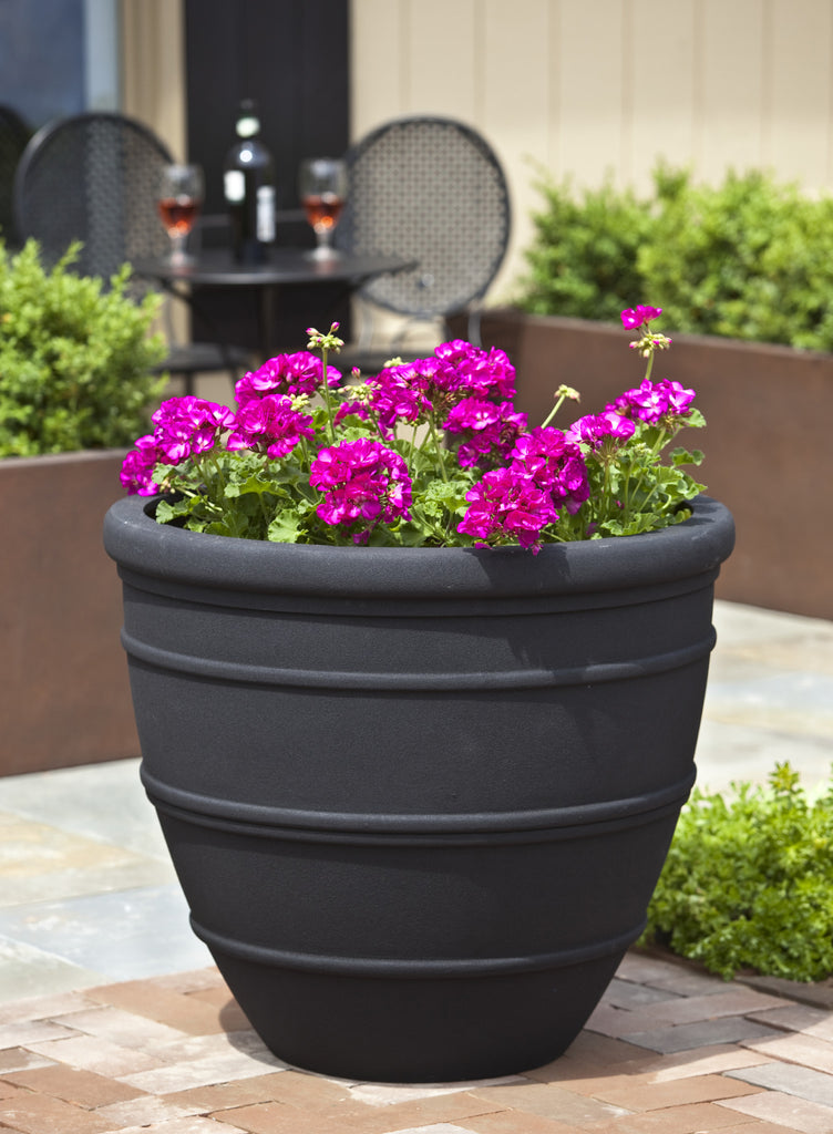 Avendia Onyx Black Lite® Planter - Set of 4 - Soothing Company