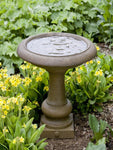 Williamsburg Summer House Cast Stone Birdbath - Soothing Company