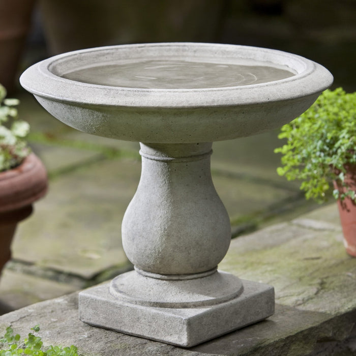 Beauvoir Cast Stone Birdbath - Soothing Company