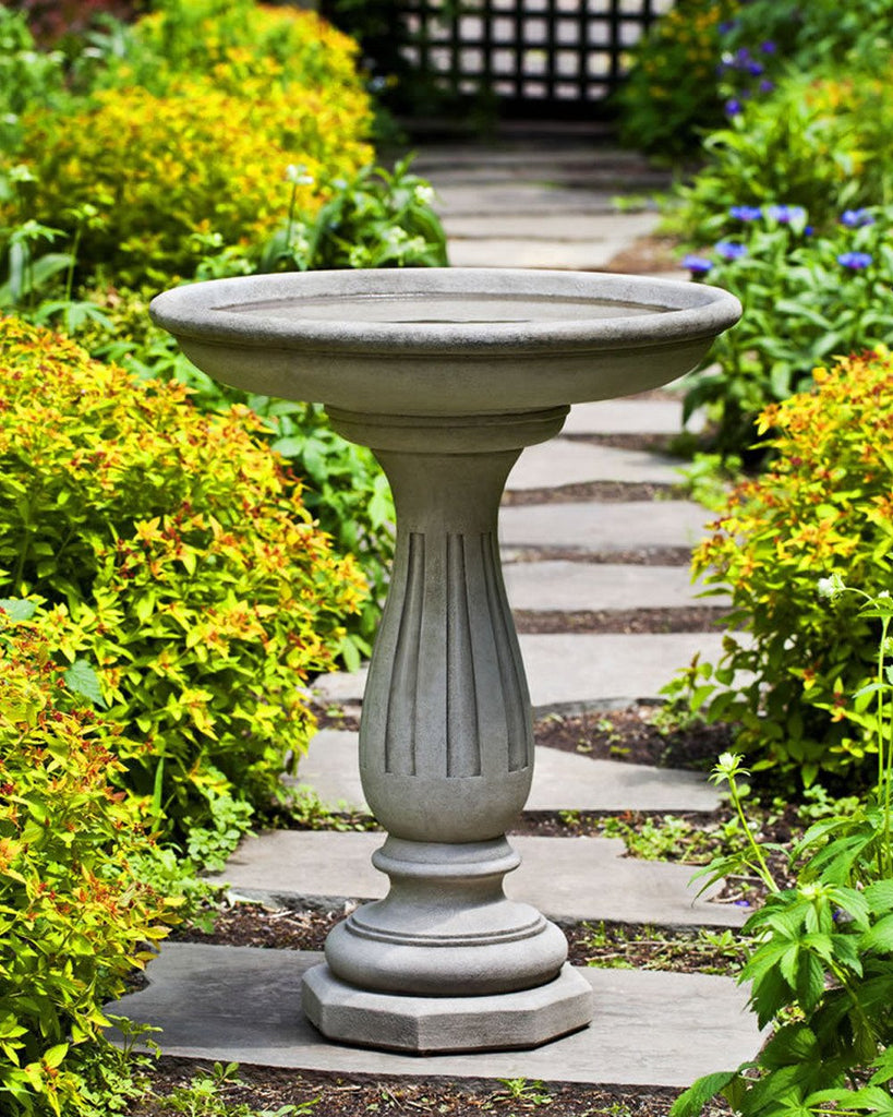 Windmoore Cast Stone Birdbath - Soothing Company