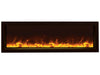 "Amantii 50"" Slim Indoor or Outdoor Built-in Electric Fireplace with Black Steel Surround - Soothing Company"