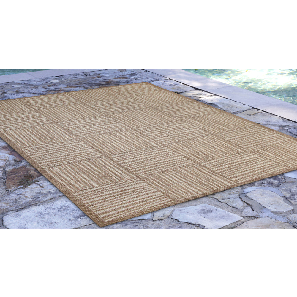 Liora Manne Belmont Squares Beige Area Rug - Soothing Company