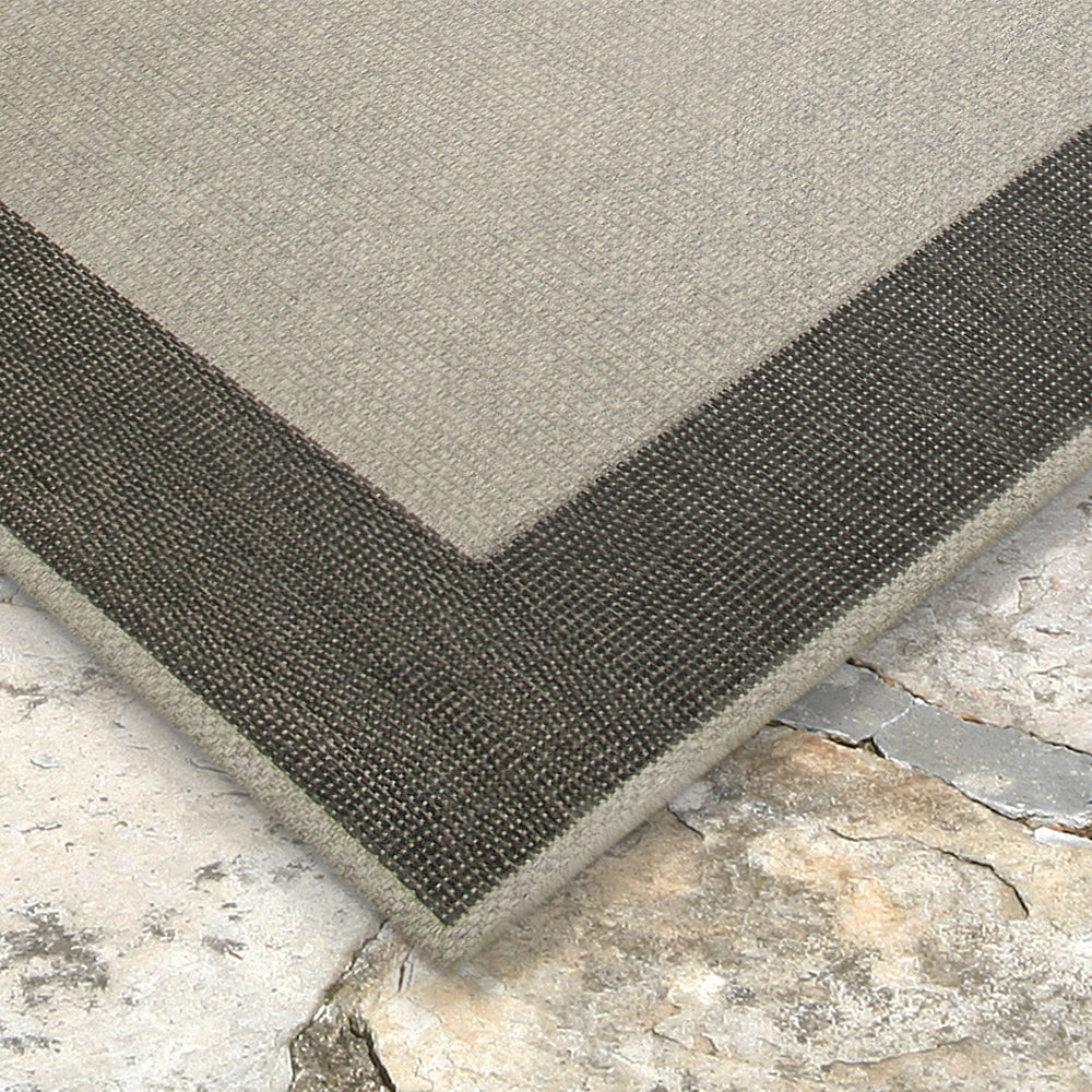 Liora Manne Belmont Border Charcoal Area Rug - Soothing Company