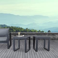 Baltic Outdoor End Tables - Set of Two in Gray - Soothing Company