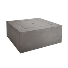Baltic Square Natural Gas Fire Table in Glacier Gray - Soothing Company