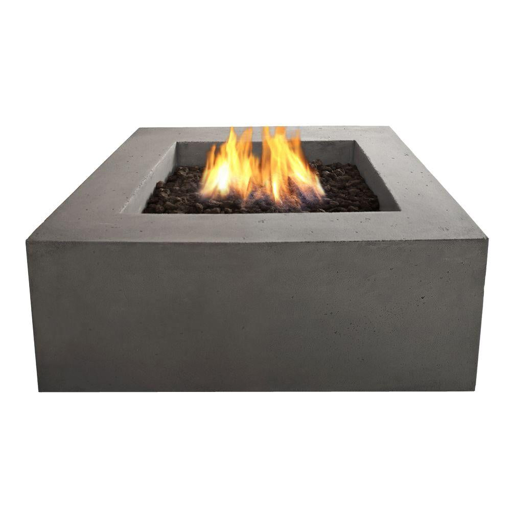 Baltic Square Propane Fire Table with NG Conversion Kit in Glacier Gray - Soothing Company