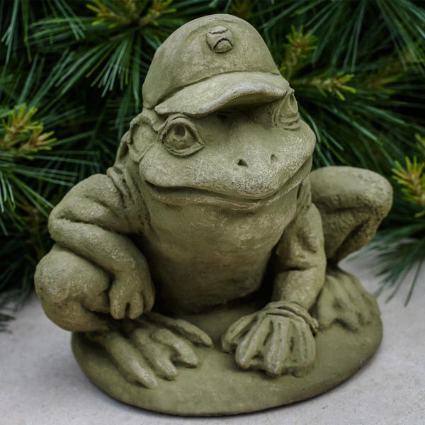 Baseball Frog Cast Stone Garden Statue - Soothing Company