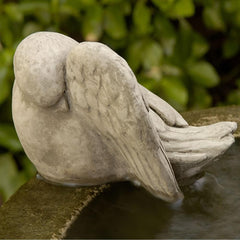 Bathing Bird Cast Stone Garden Statue - Soothing Company
