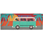Liora Manne Frontporch Beach Trip Turquoise Area Rug - Soothing Company