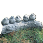 Birds on a Log Cast Stone Garden Statue