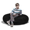 Cocoon 4 Foot Bean Bag -  in Microsuede Black - Soothing Company