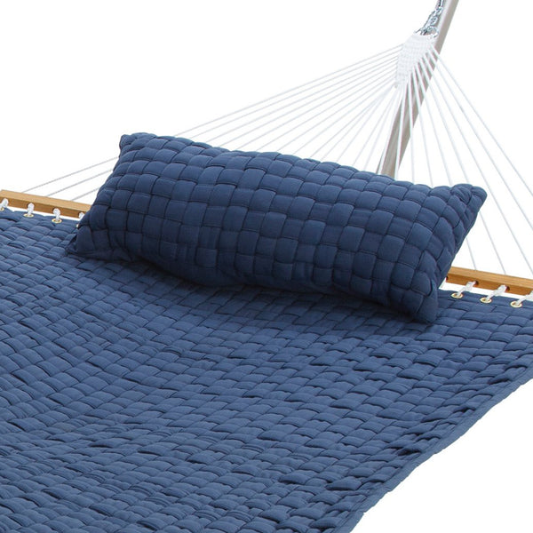 Soft Weave Hammock Pillow in Blue - Soothing Company