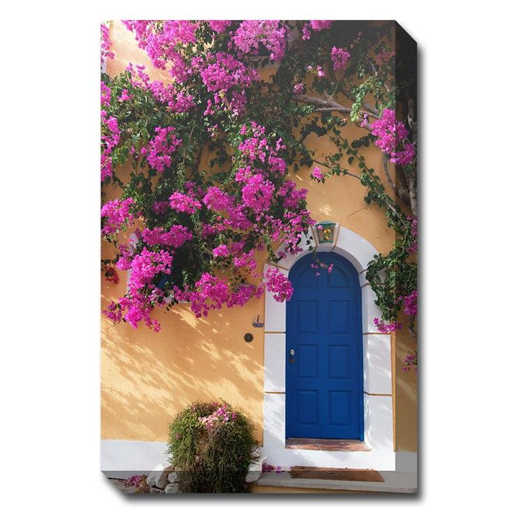 Blue Door Canvas Wall Art - Outdoor Art Pros