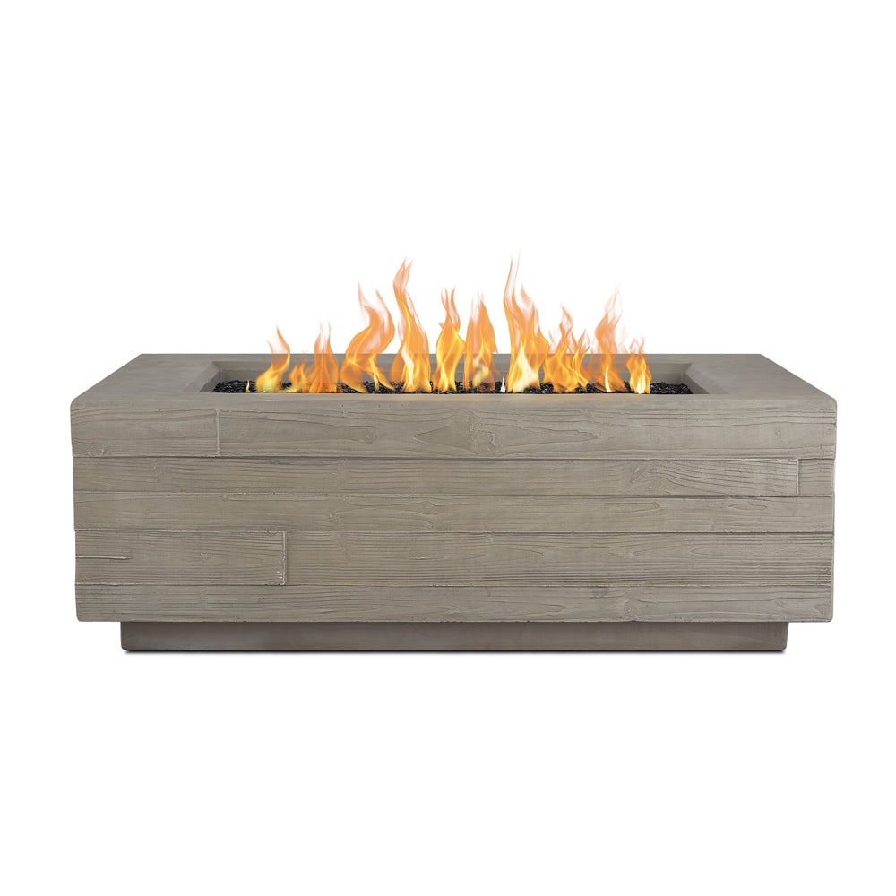 Board Form Rectangle LP Fire Table with NG Conversion Kit - Soothing Company