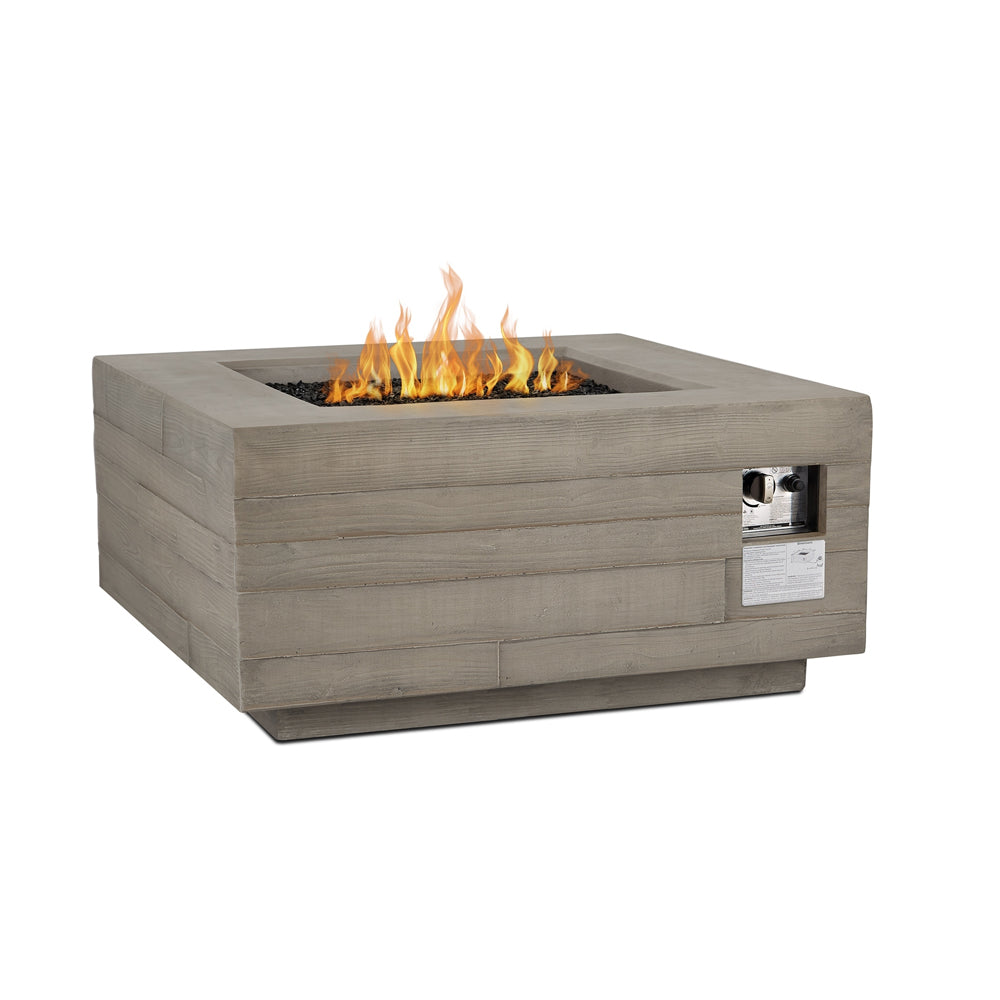 Board Form Square LP Fire Table with NG Conversion Kit - Soothing Company