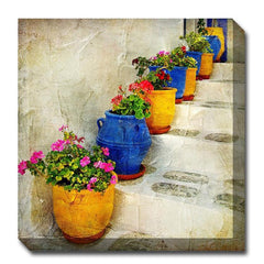 Bright Pots Canvas Wall Art - Outdoor Art Pros