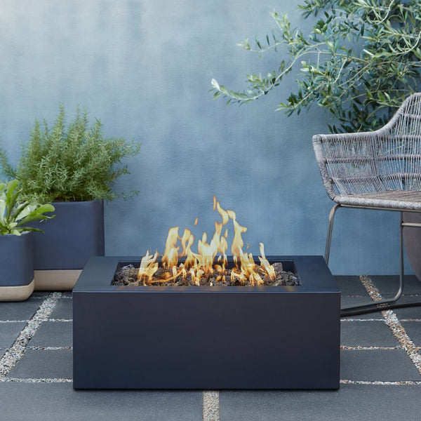 Bryon Propane Fire Pit in Raven Black with NG Conversion Kit - Soothing Company