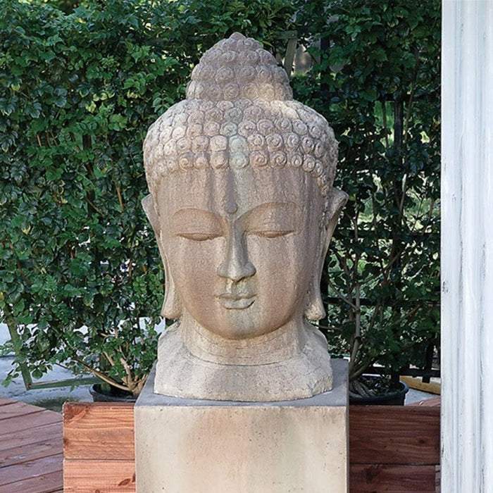 Buddha Head Garden Statue - Soothing Company