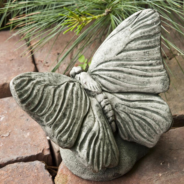 Butterfly Cast Stone Garden Statue - Soothing Company