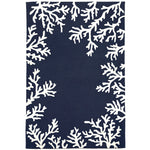 Liora Manne Capri Coral Border Navy Area Rug - Soothing Company