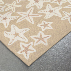 Liora Manne Capri Starfish Neutral Area Rug - Soothing Company