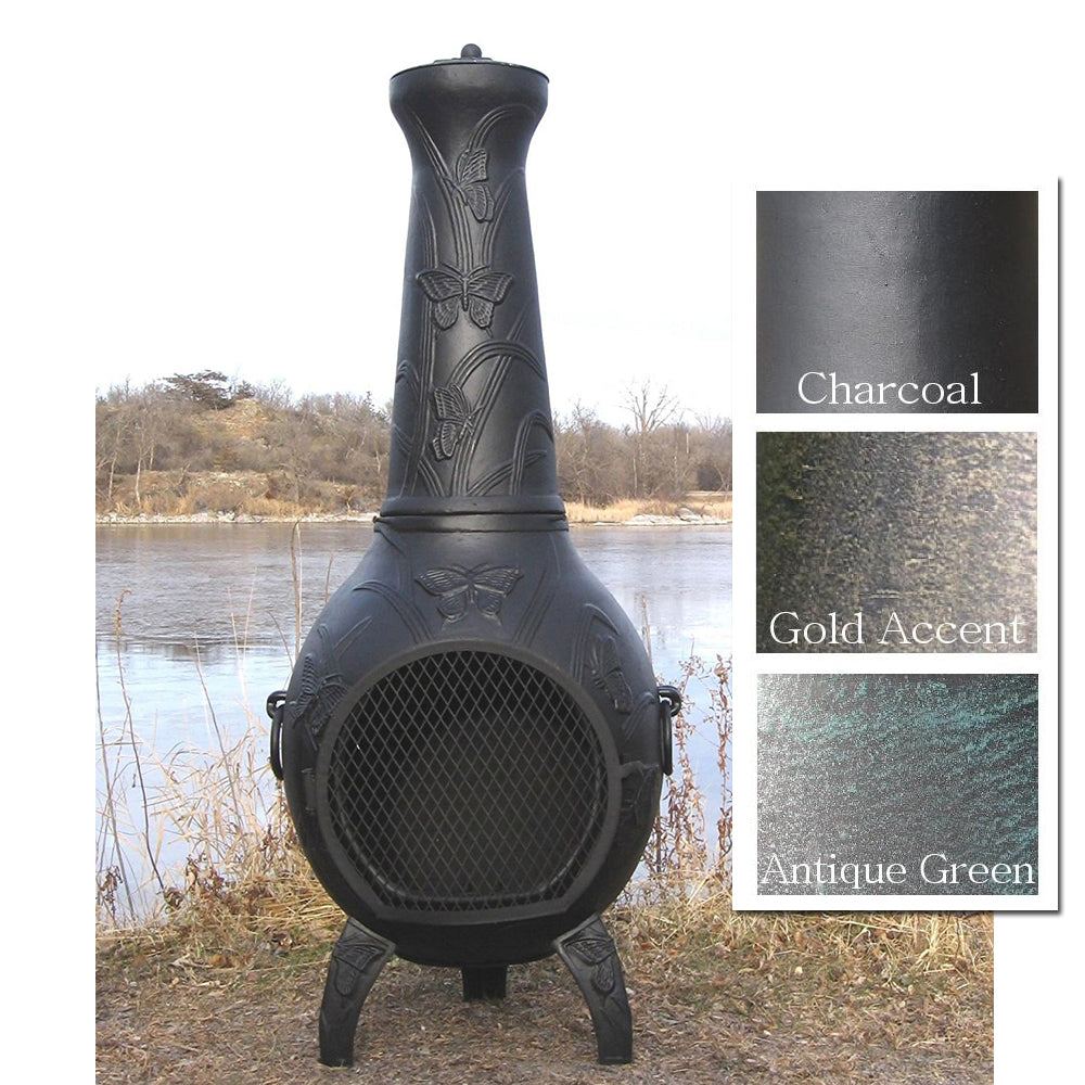 The Blue Rooster Butterfly Chiminea - Soothing Company
