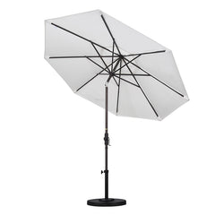California 9' Patio Umbrella with Push Button Tilt and Crank Lift - Soothing Company