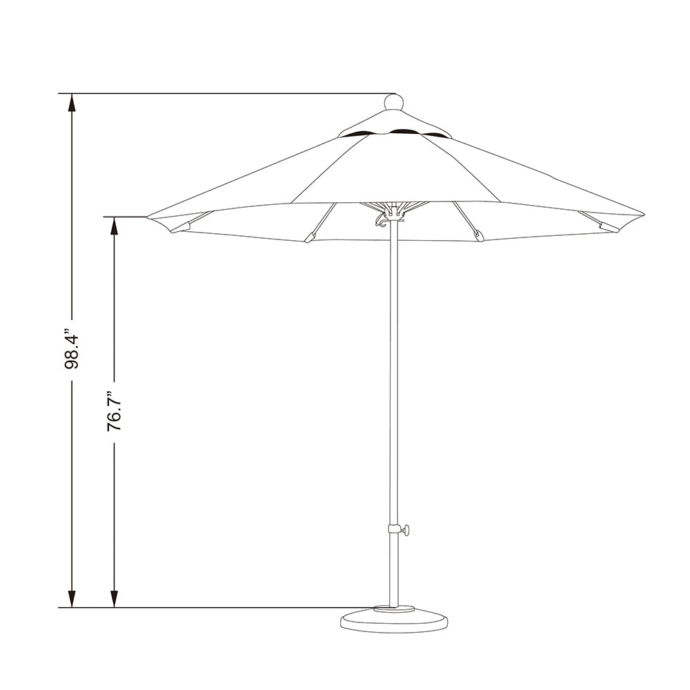California 9' Allure Luxy Series Patio Umbrella - Soothing Company