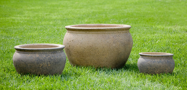 Cai Set of 3  Planters - Sandblasted - Soothing Company