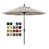 California 9' Patio Umbrella with Crank Lift and Collar Tilt in Olefin Fabric and Bronze Pole - Soothing Company