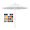 California 9' Patio Umbrella with Push Button Tilt and Crank Lift in Olefin Fabric and Matted White Pole - Soothing Company