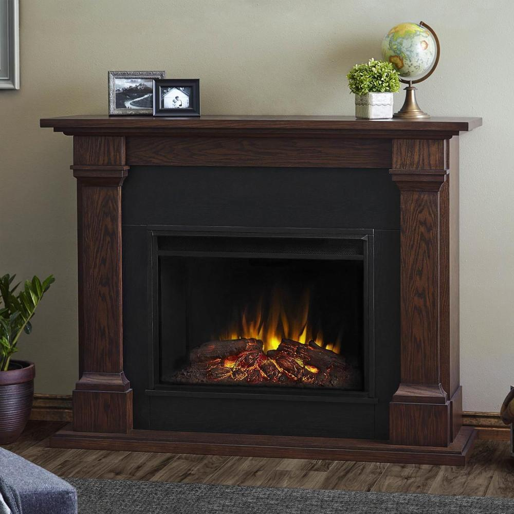 Callaway Grand Electric Fireplace in Chestnut Oak- Soothing Company