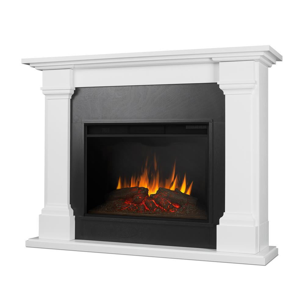 Callaway Grand Electric Fireplace in White - Soothing Company