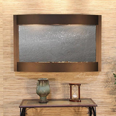 Calming Waters: Black FeatherStone and Antique Bronze Trim
