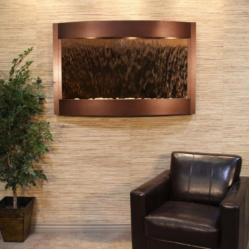 Calming Waters: Bronze Mirror and Copper Vein Trim