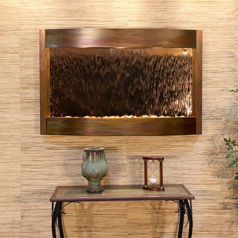 Calming Waters: Bronze Mirror and Rustic Copper Trim