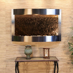Calming Waters: Bronze Mirror and Stainless Steel Trim