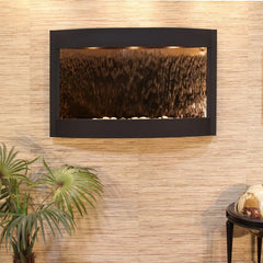 Calming Waters: Bronze Mirror and Textured Black Trim