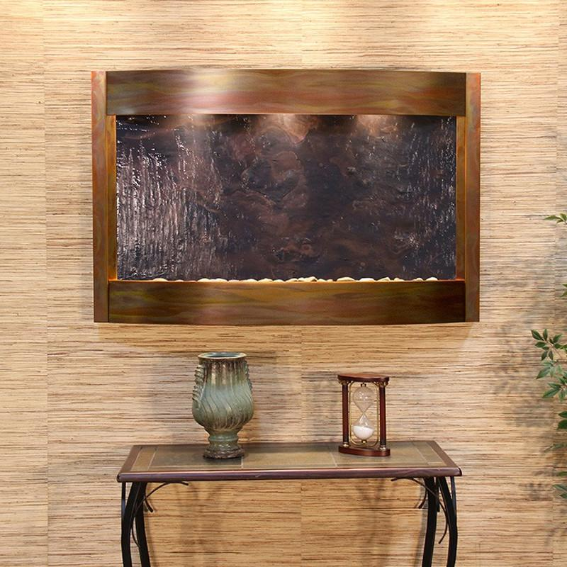 Calming Waters: Multi-Color FeatherStone and Rustic Copper Trim
