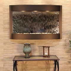 Calming Waters: Silver Mirror and Antique Bronze Trim
