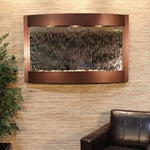 Calming Waters: Silver Mirror and Copper Vein Trim