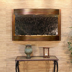 Calming Waters: Silver Mirror and Rustic Copper Trim