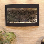 Calming Waters - Silver Mirror - Textured Black - Soothing Walls