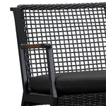 Calvin Two Seat Rocker in Black - Soothing Company