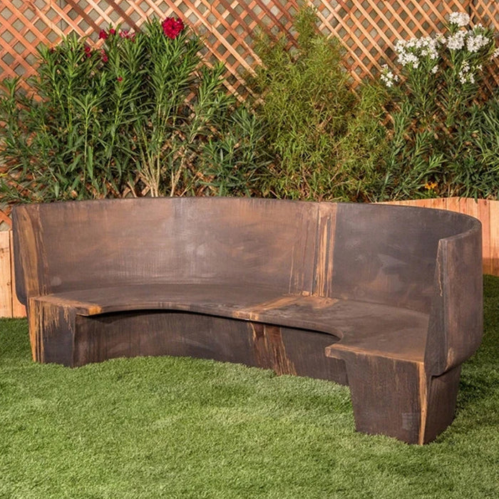 Canal Curved Large Outdoor Bench - Soothing Company