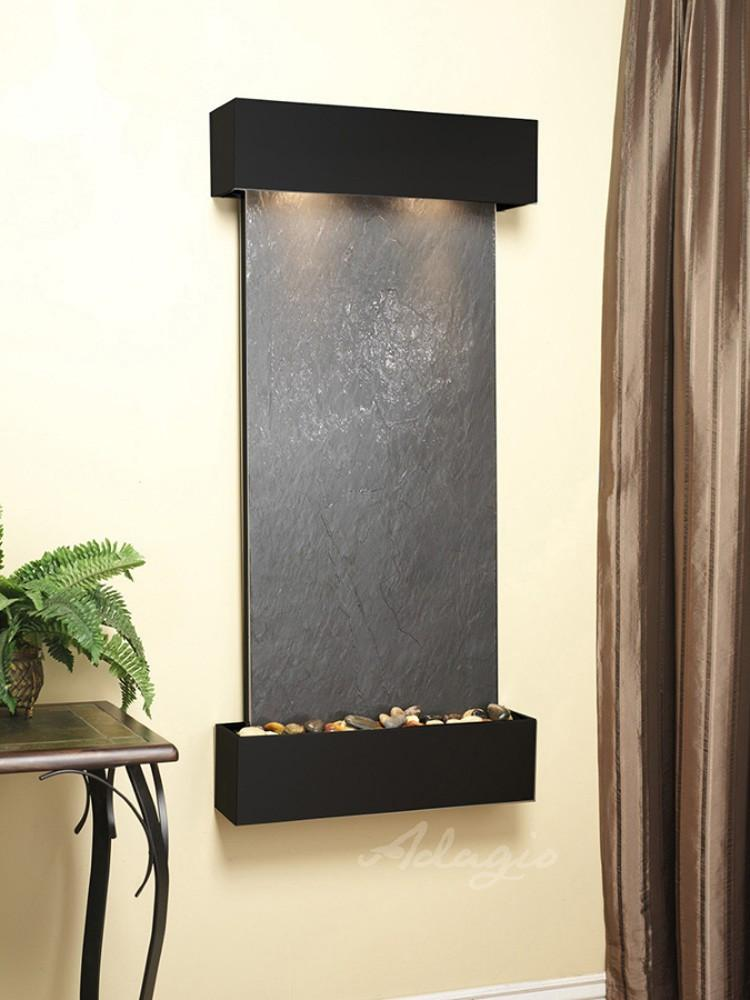 Cascade Springs: Black FeatherStone and Blackened Copper Trim with Squared Corners